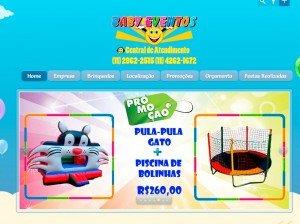 Criação de site para  Locação de Brinquedos