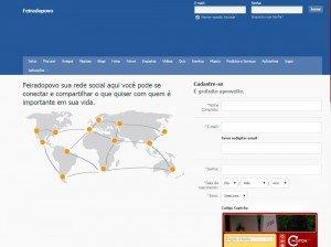 Criação de site rede social estilo facebook