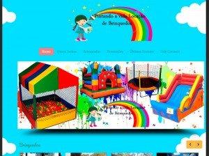 criação de sites para empresas de buffet e locação de brinquedos