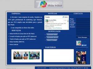 Criação de site para empresas de mídia indoor